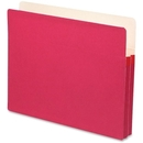 Smead 73221 Red Colored File Pockets, Letter - 8.50