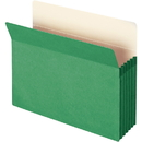 Smead 73226 Green Colored File Pockets, Letter - 8.50