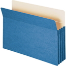 Smead 74225 Blue Colored File Pockets, Legal - 8.50