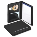 Smead 85840 Black Poly Nylon Covered Zippered Pad Folios, Letter - 8.50