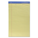 Sparco 2-Hole Punched Ruled Legal Pads, 50 Sheet - 16 lb - Legal 8.50