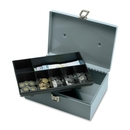 Sparco All-Steel Cash Box with Latch Lock, 1 Bill - 6 Coin - Steel - Gray - 4