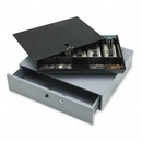 Sparco Removable Tray Cash Drawer, Gray - 3.8