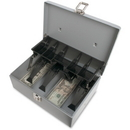 Sparco 5-Compartment Tray Cash Box, 5 Coin - Gray - 3.4