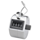 Sparco Hand Tally Counter, 4 Digit - Finger Ring - Handheld - Nickel Plated - Silver