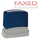 Sparco Pre-Inked Stamp, FAXED Message Stamp - 1.75