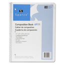 Sparco Spiral Composition Books, 80 Sheet - 16 lb - College Ruled - Letter 8.50