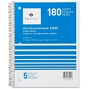 Sparco Quality Wirebound 5-Subject Notebook, 180 Sheet - College Ruled - 8
