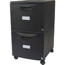 Storex 2-Drawer Locking Mobile Filing Cabinet, STX61312U01C