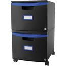 Storex 2-drawer Mobile File Cabinet, STX61314U01C