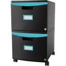 Storex 2-drawer Mobile File Cabinet, STX61315U01C