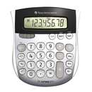 Texas Instruments TI1795 Angled SuperView Calculator, 8 Character(s) - LCD - Battery/Solar Powered - 1