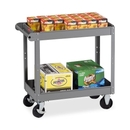 Tennsco Two Shelf Service Cart, 2 Shelf - 4 Caster - Metal - 16