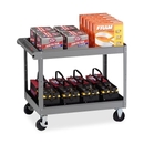Tennsco Two Shelf Service Cart, 2 Shelf - 500 lb Capacity - 4 Caster - Metal - 32