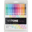 Tombow TwinTone Brights Dual-tip Marker Set, TOM61501