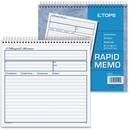 TOPS Rapid Memo Book, Spiral Bound - 2 Part - Carbonless - 7.75