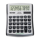 Victor 11003A Mini Desktop Calculator, 10 Character(s) - LCD - Battery/Solar Powered - 0.4