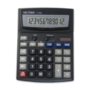 Victor 1190 Desktop Display Calculator, 12 Character(s) - LCD - Battery/Solar Powered - 1.3