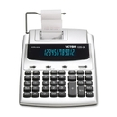 Victor 12253A Commercial Calculator, 12 Character(s) - Fluorescent - AC Supply/Power Adapter Powered - 2.5