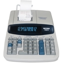 Victor 15606 Printing Calculator, 12 Character(s) - Fluorescent - AC Supply Powered - 2.8