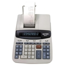 Victor 26402 Commercial Print Calculator, 12 Character(s) - Fluorescent - AC Supply Powered - 8