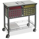 Vertiflex SmartWorx Sidekick File Cart, 4 Caster - Steel - 13.8