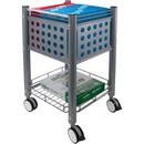 Vertiflex SmartWorx Sidekick File Cart, 4 Caster - Steel - 15.8