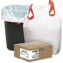 Webster Drawstring Trash Liner, 0.90 mil (23 Micron) Thickness - Resin - 200/Box - White