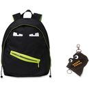 ZIPIT Grillz Carrying Case (Backpack) for Books, Binder, Clothing, Tablet, Snacks, Bottle, School - Black
