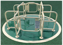 SportsPlay 301-147G Wheelchair Accessible Merry Go Round Green & Tan