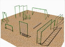 SportsPlay 511-206 9 Unit Course w/ Horizontal Ladder - Galvanized