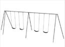 SportsPlay 581-4208 Primary Tripod Swing - 8 foot, 4 seat
