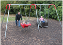 SportsPlay 581-483 2 Bay ADA Swing with wheelchair platform and JennSwing seat