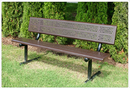 SportsPlay 601-677 Standard Bench w/Back, 6' Beveled Perforated