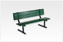 SportsPlay 601-678 Standard Bench w/Back, 8' Beveled Perforated