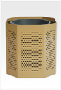 SportsPlay 601-709 Steel Trash Can, 55g Perforated