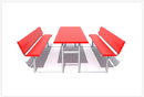 SportsPlay 602-754 Rectangular Picnic Table W/Back 2 3/8