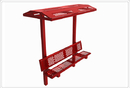 SportsPlay 602-760 8' Single Bench with Shade, Perforated
