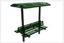 SportsPlay 602-761 8' Double Bench with Shade, Perforated