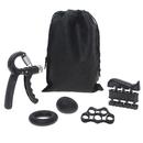 Muka 5 Pack Hand Gripper Kit Adjustable Resistance Gripper Finger Stretcher Grip Trainner Stress Ball