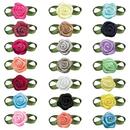 Muka DIY 200pcs Mini Ribbon Rose Wedding Decorative Flower Applique / Dress Trim / Sewing Craft