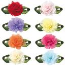 Muka DIY Exquisite Satin Ribbon Bows Carnation Roses Decorative Flowers Craft, 200 Pcs