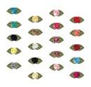 Muka 200 Pcs Polyester Stain Ribbon Rose DIY Sewing Craft Clothing Accessories/Dress Trim