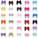 Muka 200 PCS Multi-color Mini Ribbon Bows Flowers Appliques for Sewing, Gift, DIY Craft, Wedding Decoration Ornament
