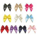 Muka 200 pcs Mini Ribbon Bows with Gold / Silver Metallic Edge for Sewing, Clothing Hair Accessories, Wedding Decoration