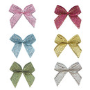 Muka 200 pcs Glitter Ribbon Bows Flowers Appliques DIY Sewing Craft for Girl Dress / Hairband / Gift Bow