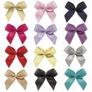Muka 200 PCS Mini Gold / Silver Purl Ribbon Bows Flowers Wedding Decoration Applique / trim / bow / Sewing Craft