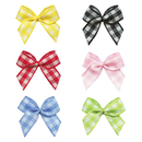 Muka 200 PCS Exquisite Gingham Ribbon Bows Flowers Appliques for Girl Dress / Hairband / Gift Bow