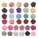 Muka 200 Pcs Multi-color Mini Ribbon Rose Flowers for Wedding Scrapbooking DIY Craft Gift Decoration