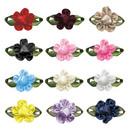 Muka 200 Pcs Sew-on Knot Rose Satin Ribbon Flowers Wedding Applique Sewing DIY Crafts,
